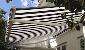 Open Roll Folding Arm Awnings Are Best Installed In Well Protected Areas Such As Under Lower Floor Eaves Or Upper Balconies And Verandahs